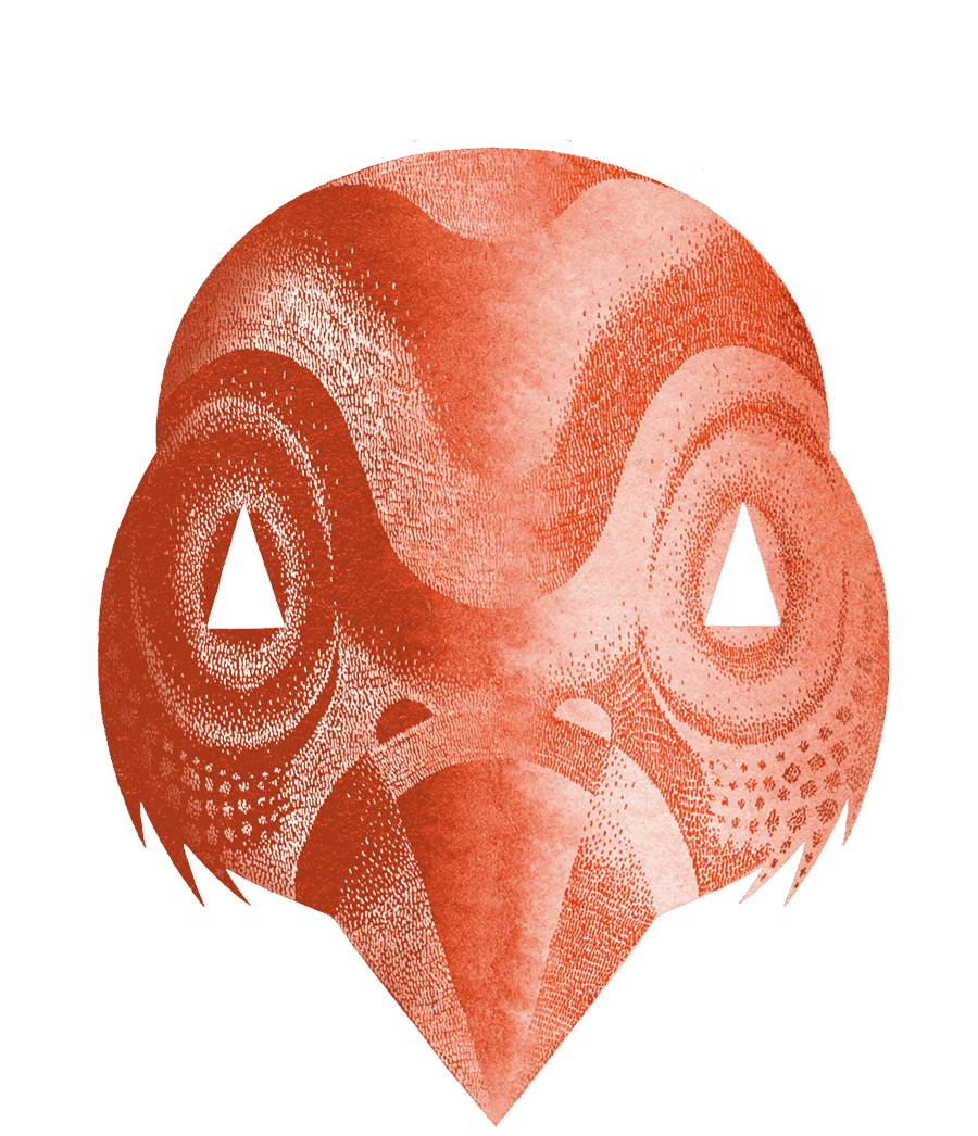 bird mask front